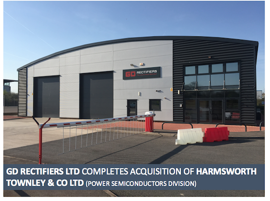 GD Rectifiers Acquires Harmsworth Townley & Co Ltd