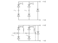 Single Phase Half Controlled Bridge Rectifier plus FWD B2HKF by GD Rectifiers